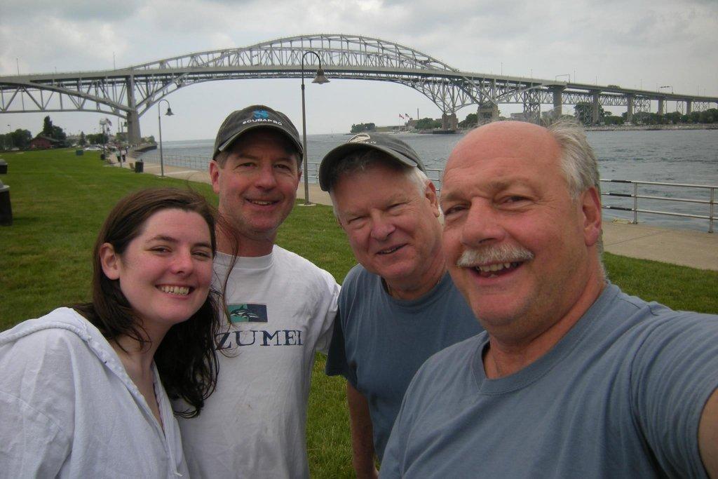 Izants and Randy at the river
